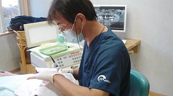 歯科治療の様子